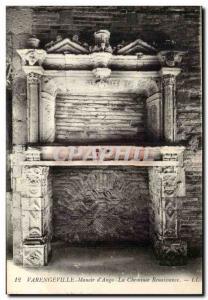 Varengeville - Manoir d & # 39Ango - The Fireplace Renaissance Old Postcard