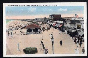 New Jersey ATLANTIC CITY Boardwalk south from Hippodrome - White Border