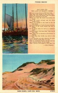 Massachusetts Cape Cod Fishing Smacks and Sand Dunes