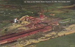 Iowa Fort Dodge Air View Of The United States Gypsum Company Mill 1945