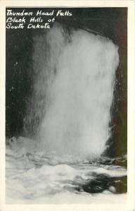 Black Hills South Dakota~Thunder Head Falls~1950s Real Photo Postcard~RPPC