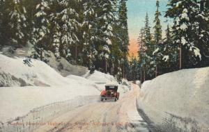VANCOUVER, British Columbia , 00-10s ; Grouse Mountain Road in Winter