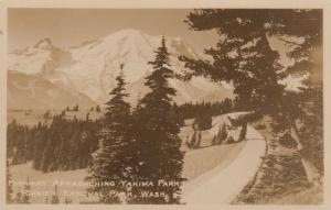 RP: RAINIER NATIONAL PARK, Washington, 20-40s; Highway Approaching Yakima Park