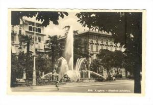 RP; Lugano , Switzerland, 1940s ; Giardino pubblico