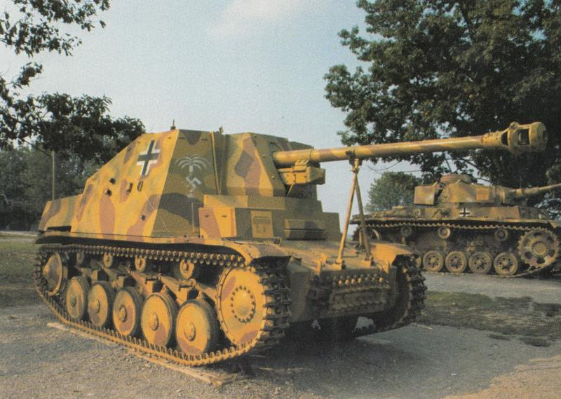 Marder II Marten 2 German WW2 Military Tank at Fort Knox Postcard