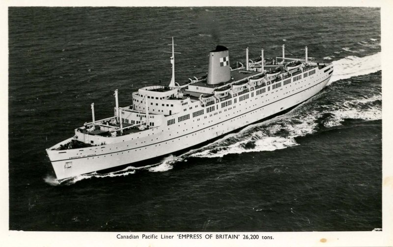 Canadian Pacific Lines - SS Empress of Britain (Maiden Voyage 1956)    RPPC