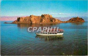 Modern Postcard The Coral Island (Jizirat Faraoun) Gulf of Eilat with the Sea...