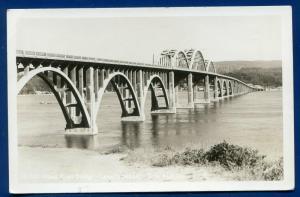 Alsea River Bridge Oregon or Coast Real Photo Postcard RPPC