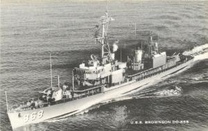 USS Brownson~DD-868 Gearing Class Destroyer~Atlantic Fleet~Scrap 1976~1965 Artvu