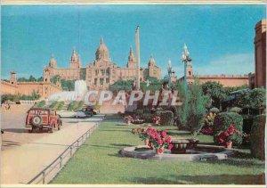 Postcard Modern Barcelona's Montjuic Park Avenue Queen Marie Christine