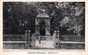 Sabastopol Monument, Halifax, Nova Scotia, Canada, Early Postcard, Unused