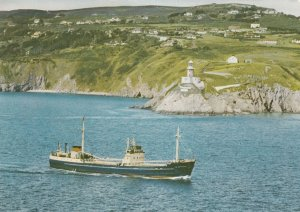 M.V. The Lady Grania passing Bailey LIGHTHOUSE , Howth, Co. Dublin , Irelan...