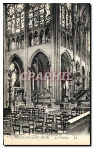 Postcard Old Abbey of Saint Denis Transept