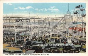 The Roller Coaster and WHip Old Orchard Beach, Maine, ME, USA Unused