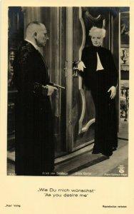 PC CPA GRETA GARBO IN AS YOU DESIRE ME 186/3, REAL PHOTO Postcard (b21201)