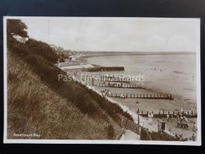 Essex: Dovercourt Bay showing beach & Bandstand - Old RP Postcard