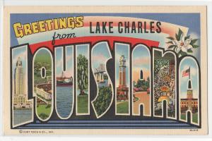 Large Letter, LAKE CHARLES - LOUISIANA