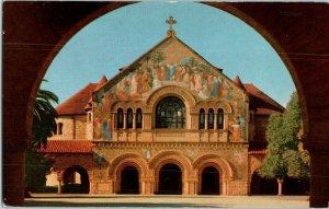 Stanford Memorial Church Stanford University Union Oil California Postcard