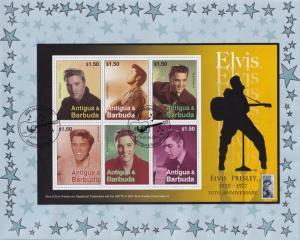 Elvis Presley 30th Anniversary Antigua & Barbuda Stamp First Day Cover