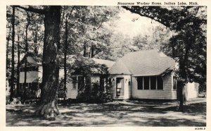 Indian Lake, Michigan, MI, Nazarene Worker Home, 1954 Vintage Postcard g8900