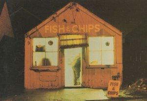 Welsh Fish & Chip Food Shop Chalet Rare 1980s Postcard