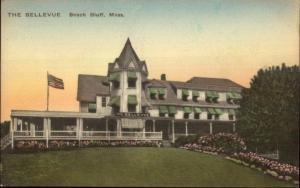 Beach Bluff MA The Bellevue Hand Colored Postcard