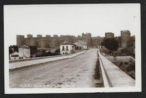 New Bridge & Wall Avila Spain RPPC Unused c1920s