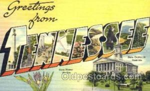 Greetings From Tennessee, USA Large Letter Town Unused
