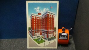 STD Vintage The Poinsett Hotel Greenville South Carolina Posted 1952 Linen