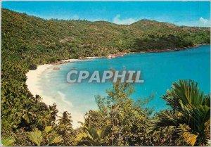 Postcard Modern Anse Lazio Praslin Seychelles