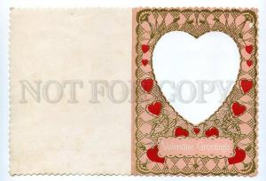130745 Winged FAIRY BUTTERFLY Vintage Valentines Day RARE PC