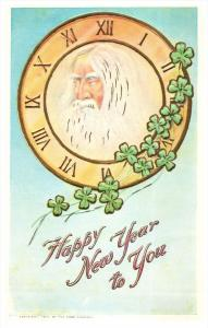 10585  New Year  Father Time Clock Face