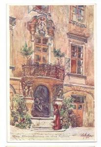 Austria Vienna Rathaus Donner Fountain Artist E. F. Hofecker