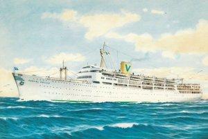 sitmar Line Ocean Liner S/S Castel Felice , 1940-60s