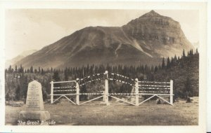 Canada Postcard - The Great Divide - British Columbia - Real Photo - Ref 5583A
