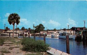 PANAMA CITY FLORIDA SMITH'S YACHT BASIN POSTCARD 1961