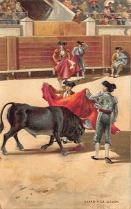 Capro a la Alimon Tarjeta Postal Bullfighting Rips on back