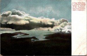 Fog Effect U.S. Weather Burean Station Mt. Tamalpais C.A. vtg postcard