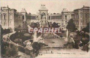 Postcard Old Marseille Palais Longchamp Lion