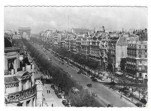 France Paris Avenue Champs Elysees Arc de Triomphe Glossy Photo 1940s Postcard