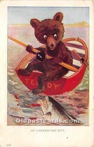 Bear Postcard An Unexpected Bite 1907