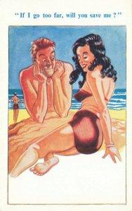 Comic Postcard Garland, Rudolf & Co. W102, Seaside Joke, Humour KK2