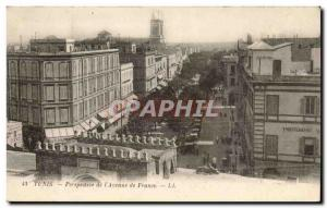 Tunisia Tunis Old Postcard Perspective of & # 39avenue of France