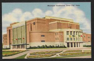 Municipal Auditorium Sioux City Iowa Unused c1955