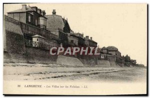 Old Postcard Langrune villas on the cliffs
