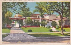 California Beverly Hills Home Of Joe E Brown