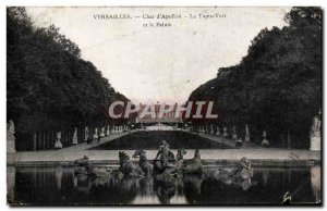 Old Postcard Versailles Char d & # 39Apollon Green Carpet And The Palace