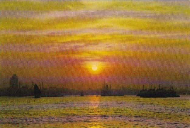 Hong Kong Dawn Over Huangpu River
