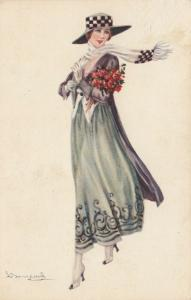 BOMPARD ; Art Deco Female Portrait  , 1910s #3