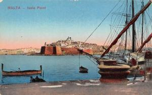 Malta Isola Points Harbour Fishing Boats Port Panorama